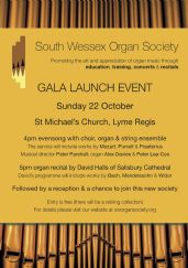 Instrument by Skrabl to feature in launch of new organ society