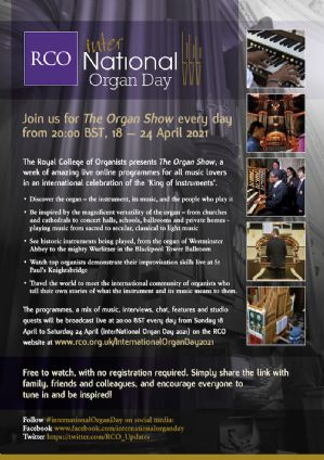 International celebration of organs, organ music and organists