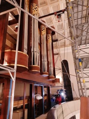 Installation of new three-manual organ in Poland
